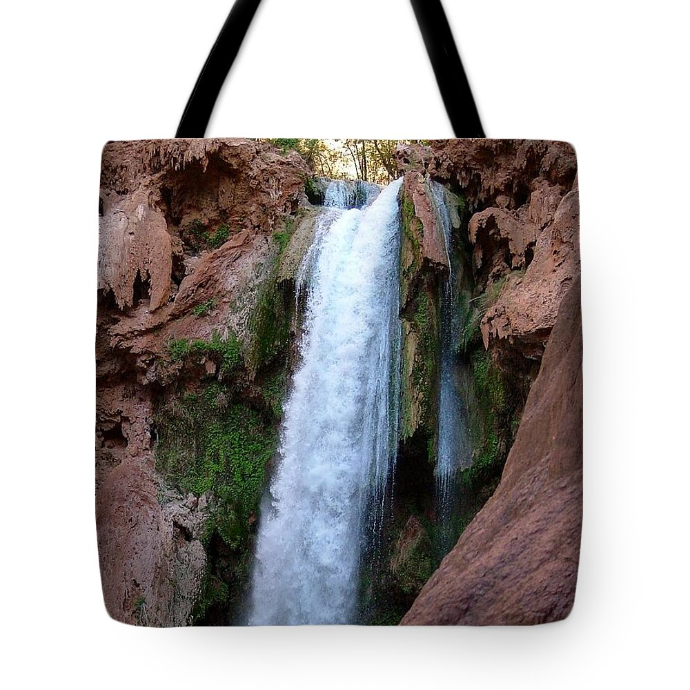 Waterfalls Tote Bag featuring the photograph Cascade by Brent Sisson