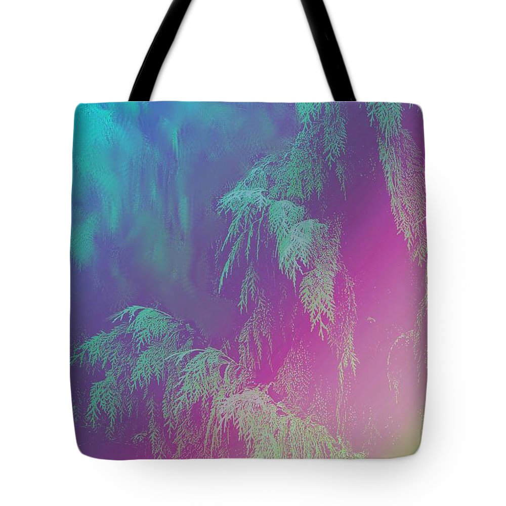 Trees Tote Bag featuring the photograph Cascade by Ian MacDonald