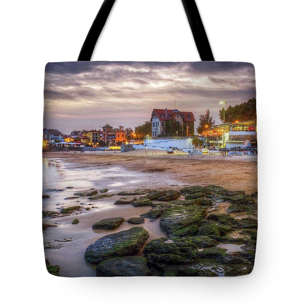 Cascais Tote Bag featuring the photograph Cascais Beach by Carlos Caetano