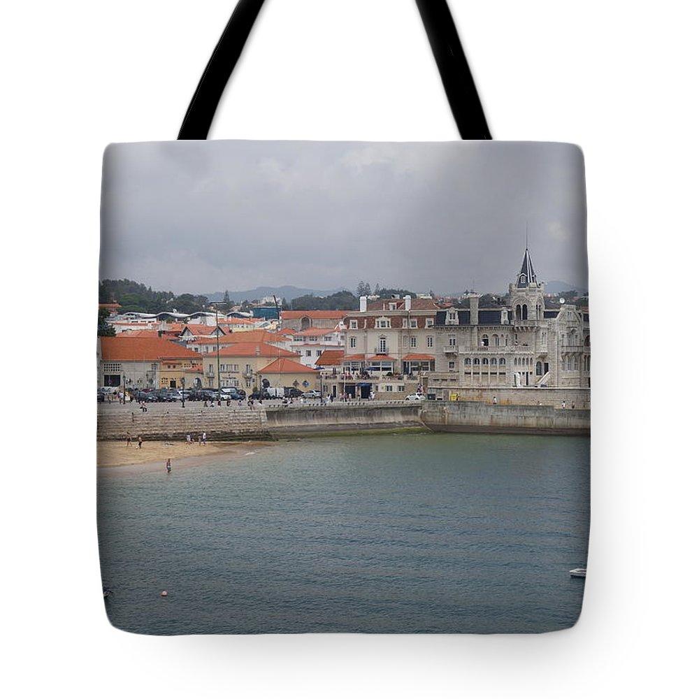 Cascais Tote Bag featuring the photograph Cascais, Portugal by Rauno Joks