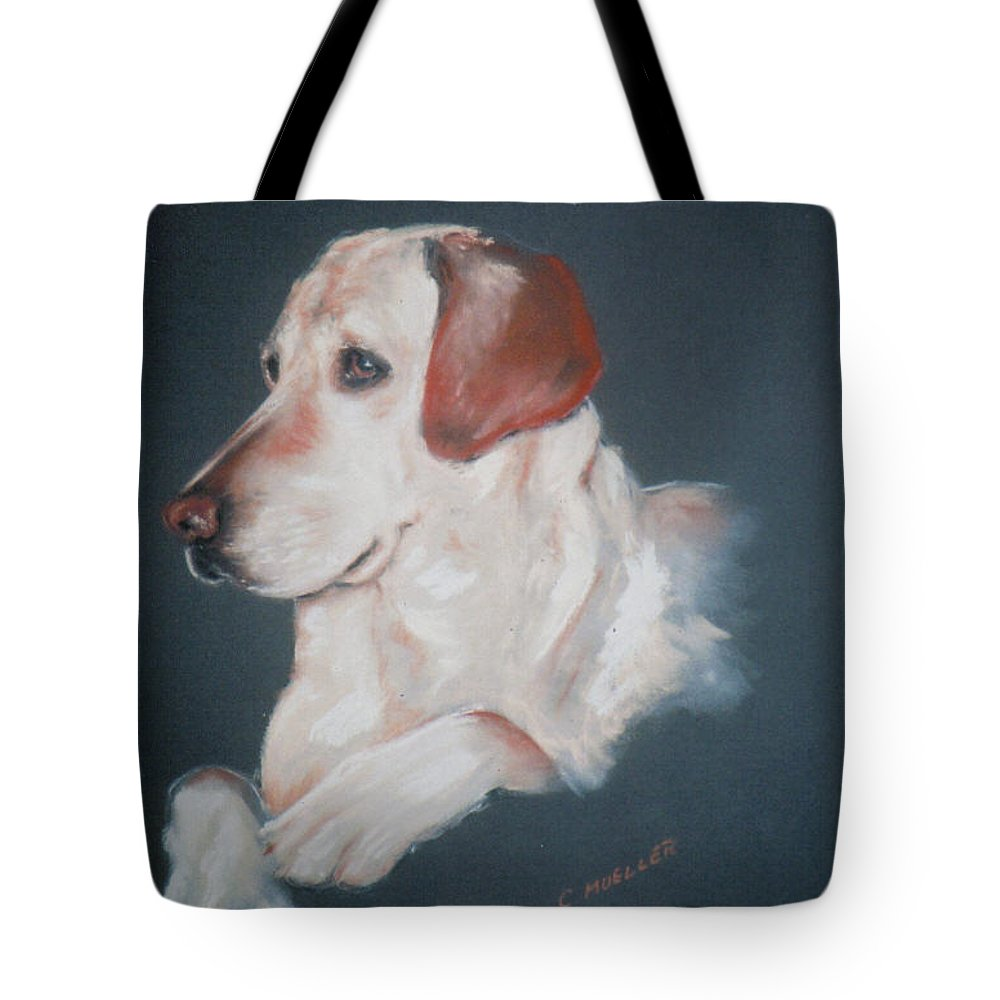 Dog Tote Bag featuring the painting Casey by Carol Mueller