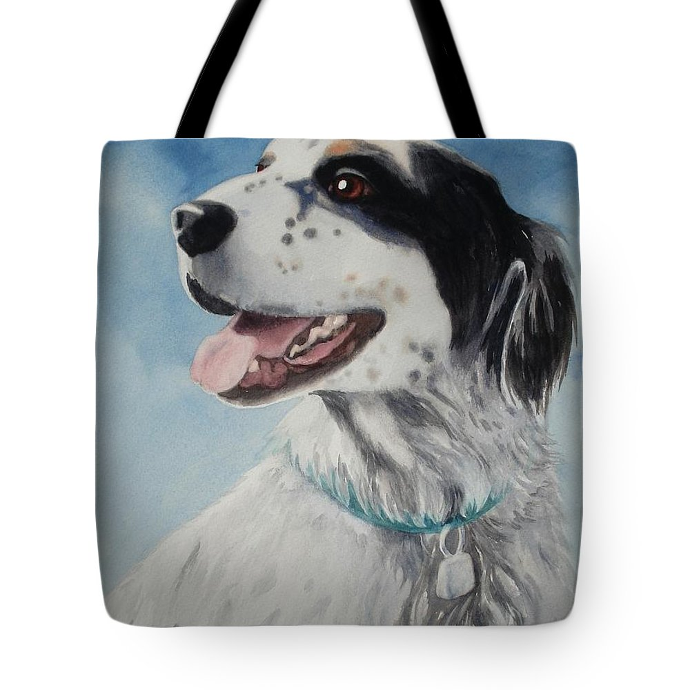 Dog Tote Bag featuring the painting Casey by Marilyn Jacobson