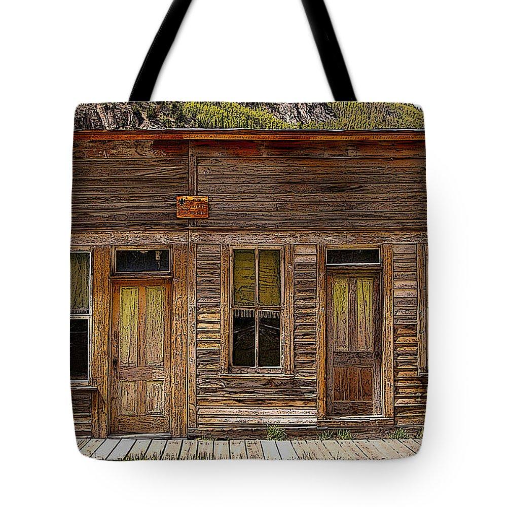 Colorado Tote Bag featuring the photograph Cash Williams Building Facade by Rich Walter