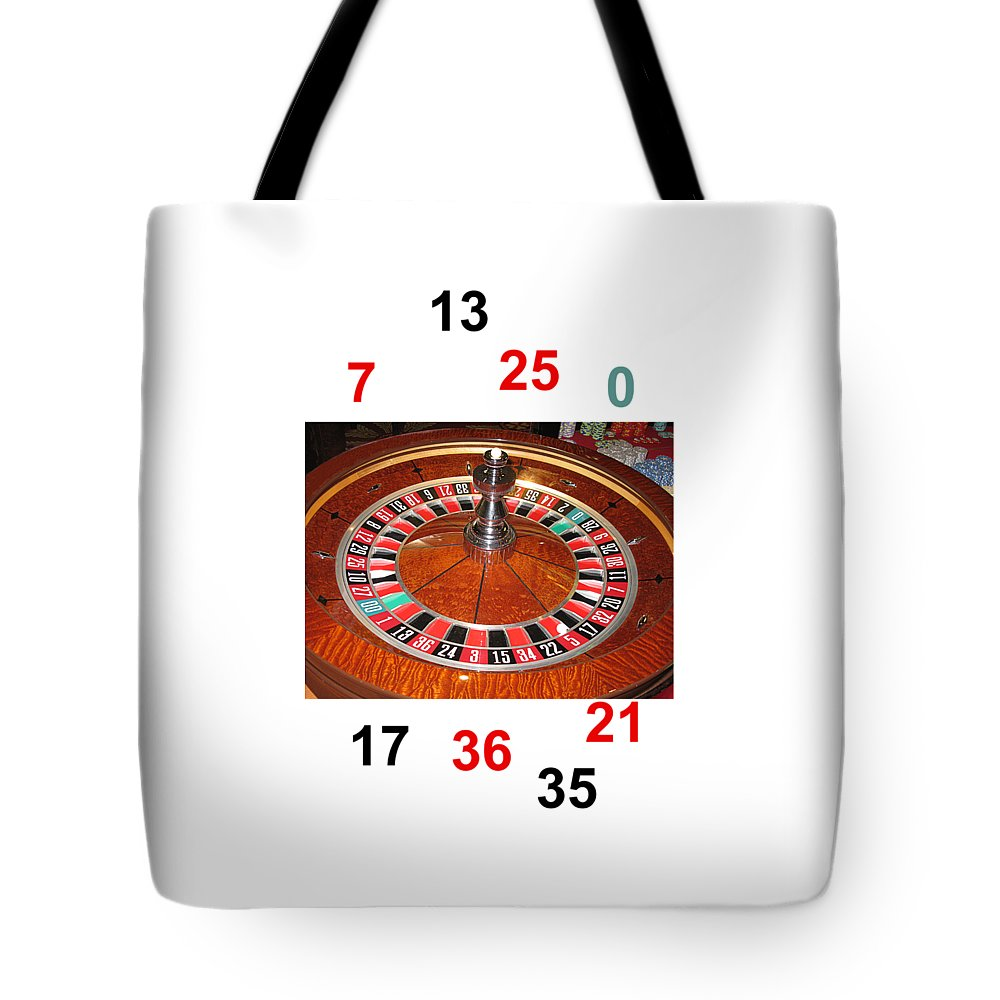 Casino Roulette Wheel Lucky Numbers Tote Bag