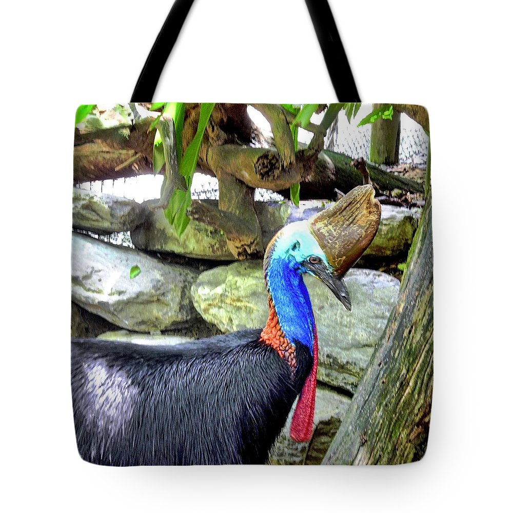 Cassowary Tote Bag featuring the photograph Cassowary by Kirsten Giving
