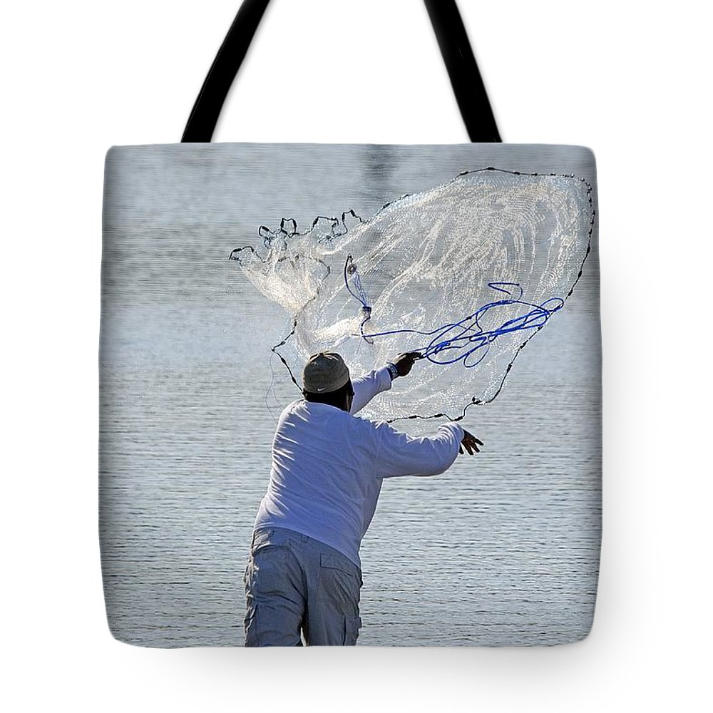 Nature Tote Bag featuring the photograph Cast Net by Kenneth Albin