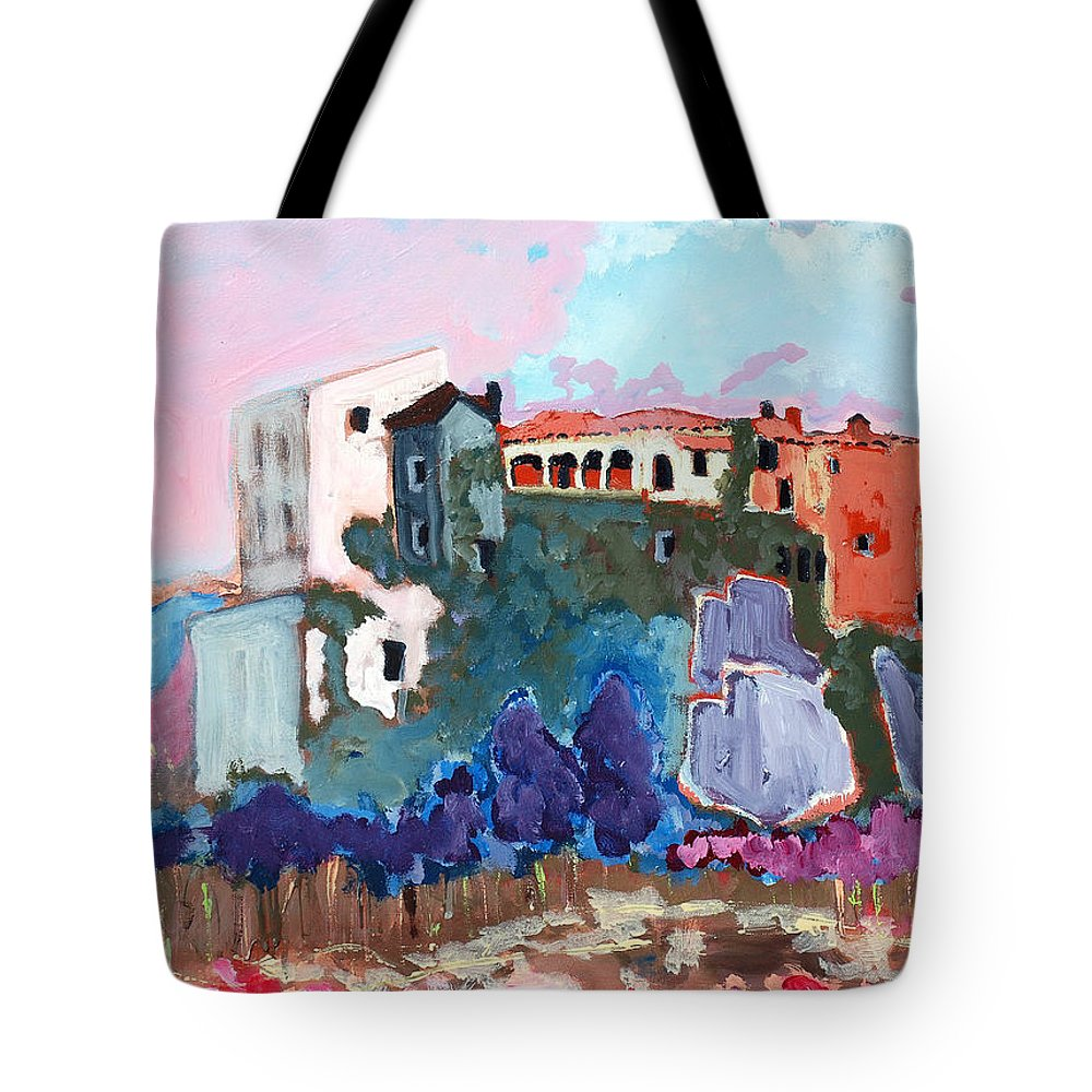 Castle Tote Bag featuring the painting Castello by Kurt Hausmann