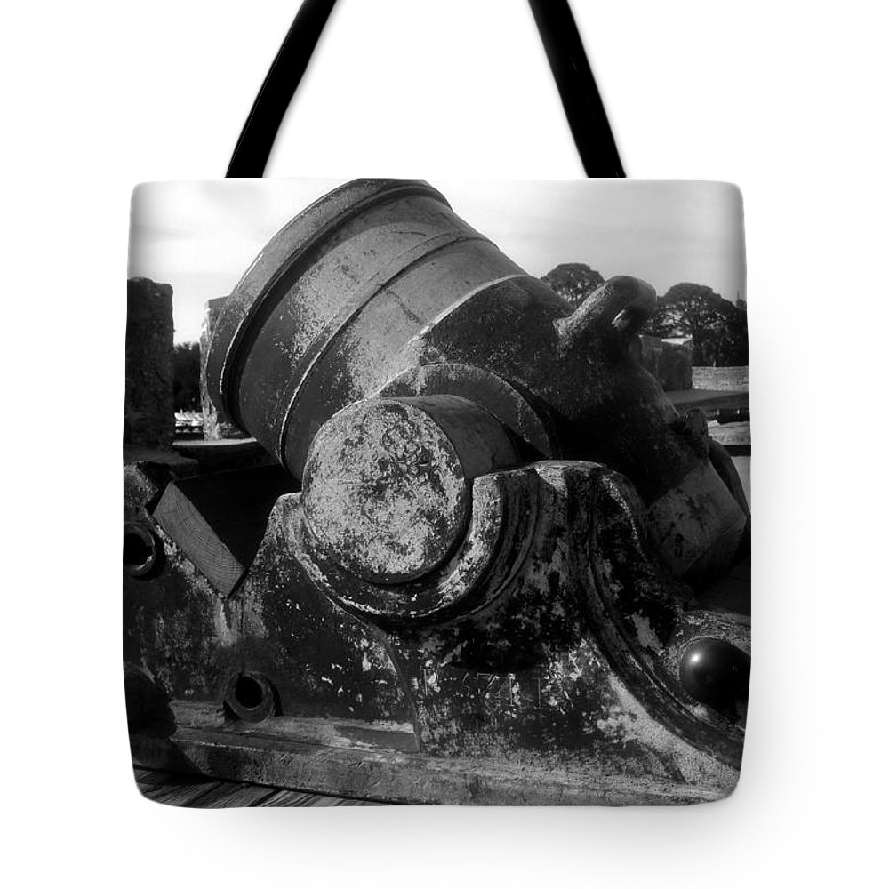 Cannon Tote Bag featuring the photograph Castillo Cannon by David Lee Thompson
