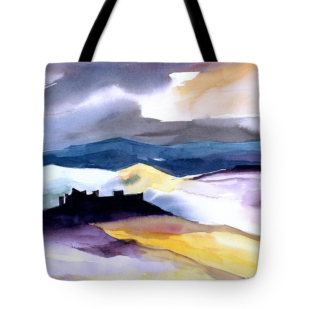 Water Tote Bag featuring the painting Castle by Anil Nene