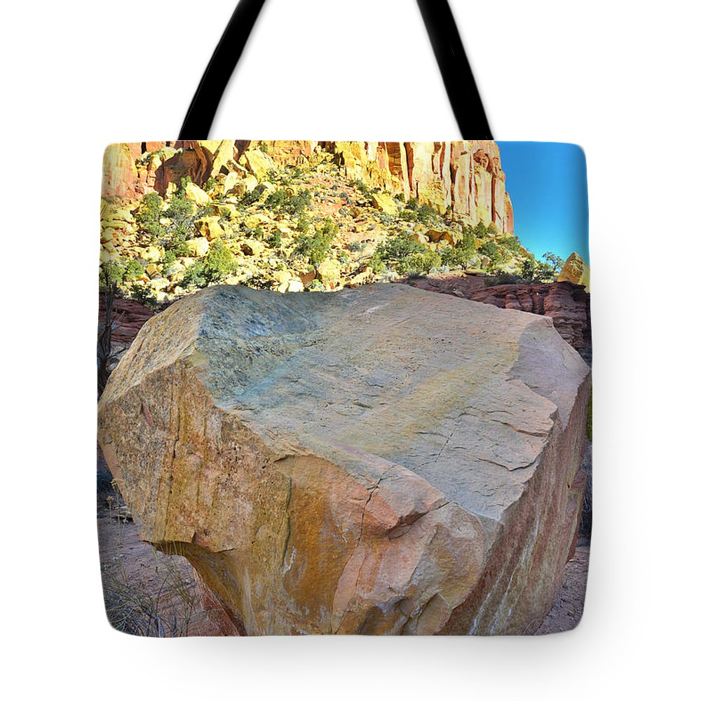 Grand Staircase Escalante National Monument Tote Bag featuring the photograph Castle Boulder by Ray Mathis