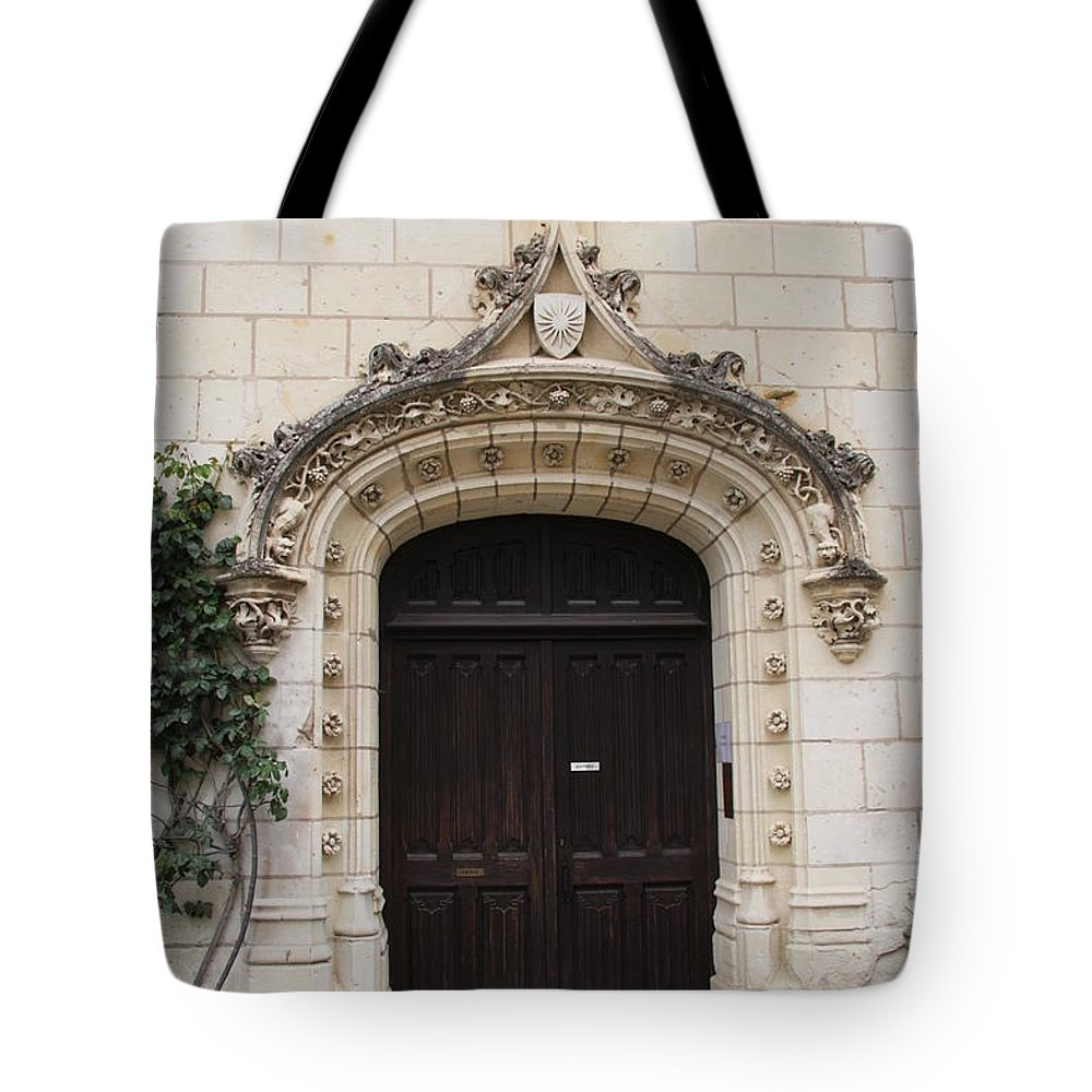 Door Tote Bag featuring the photograph Castle Entrance Door by Christiane Schulze Art And Photography