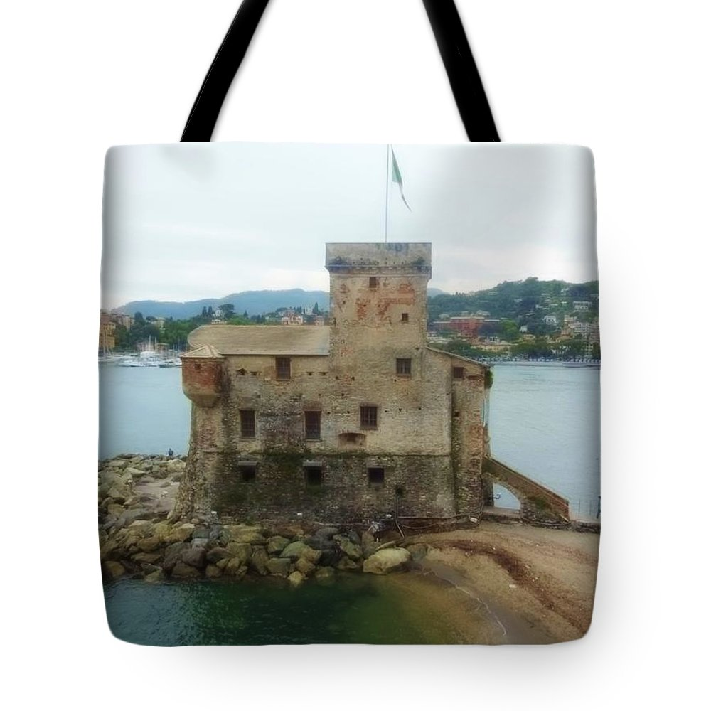 Castle Tote Bag featuring the photograph Castle Of Rapallo by Marilyn Dunlap