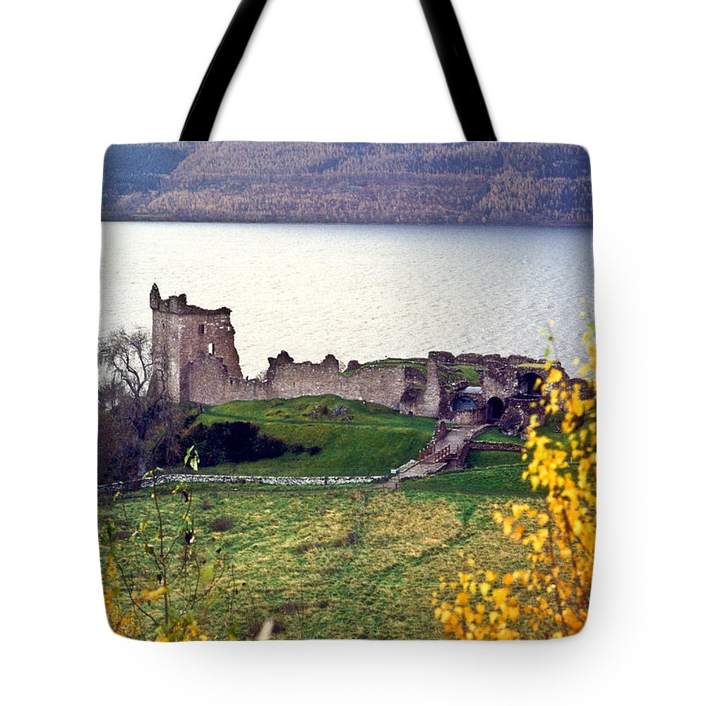 Castle Tote Bag featuring the photograph Castle Ruins Scotland by Douglas Barnett