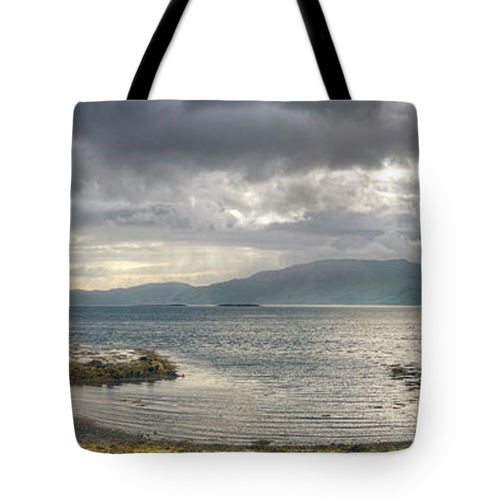 Castle Stalker Tote Bag featuring the photograph Castle Stalker by Ray Devlin