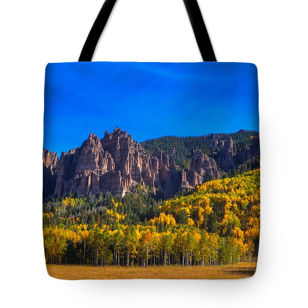 Rock Formations Tote Bag featuring the photograph Castles by David Ross