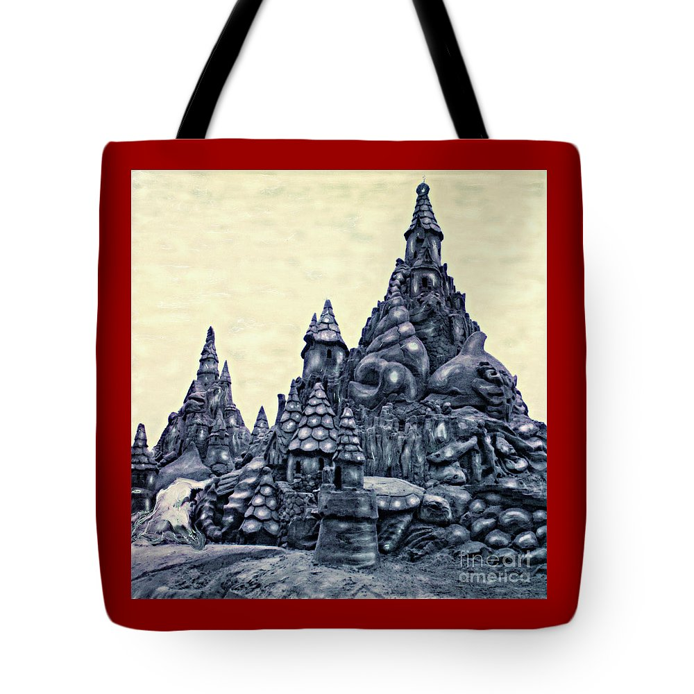 Sandcastles Tote Bag featuring the photograph Castles On The Beach by Keith Dillon