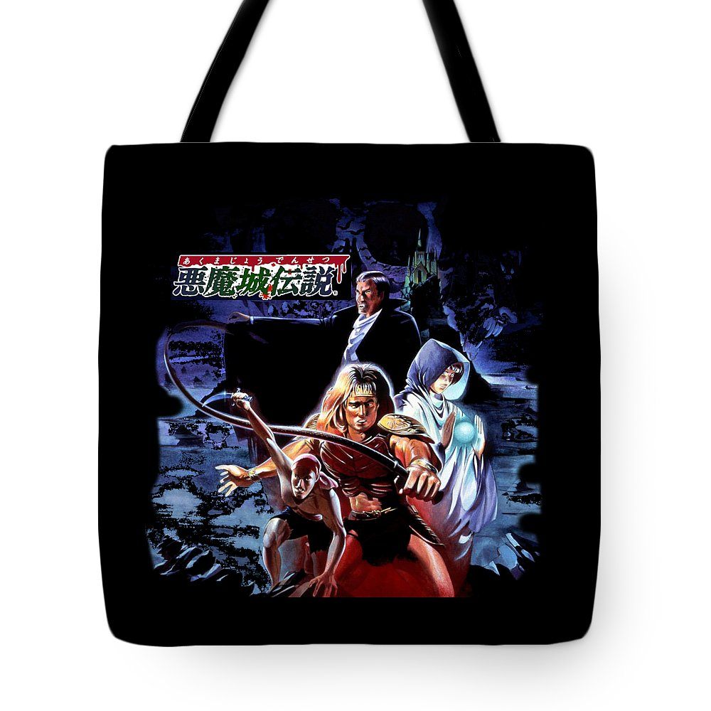 Castlevania Tote Bag featuring the digital art Castlevania IIi by Paco Carnal
