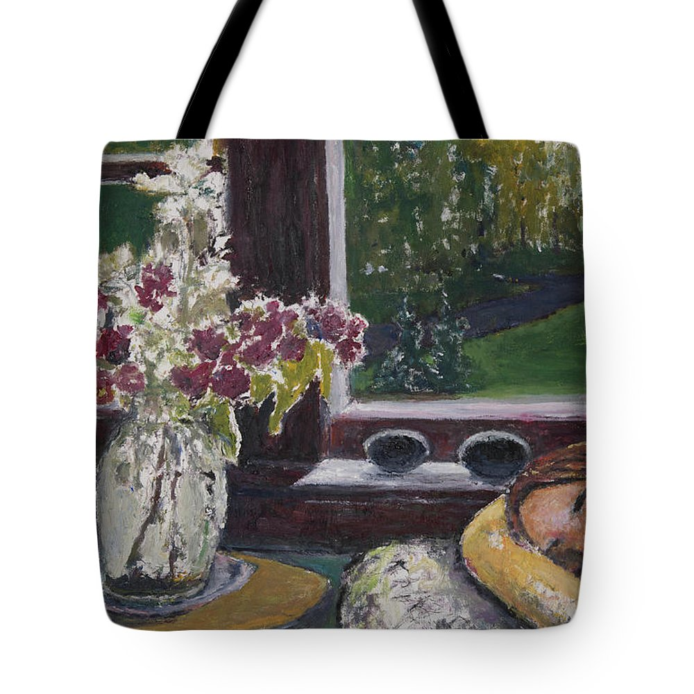 Nap Tote Bag featuring the painting Cat Nap by Craig Newland