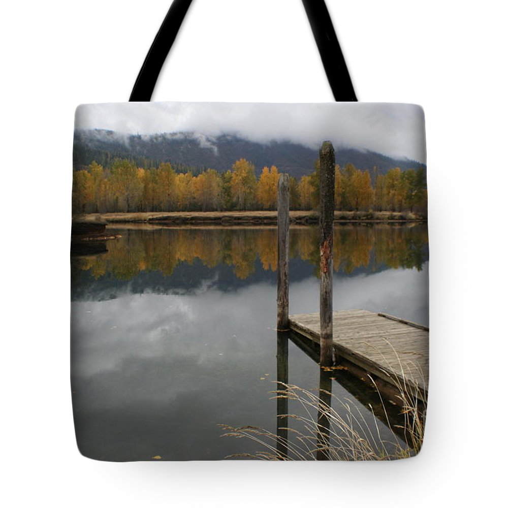 Cataldo Tote Bag featuring the photograph Cataldo Reflections by Idaho Scenic Images Linda Lantzy