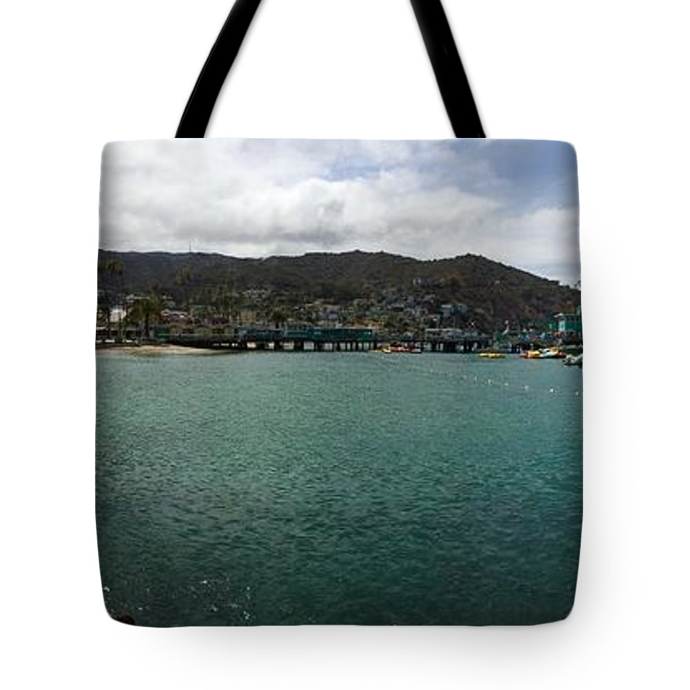 Panorama Tote Bag featuring the photograph Catalina Bay by Joshua Solis