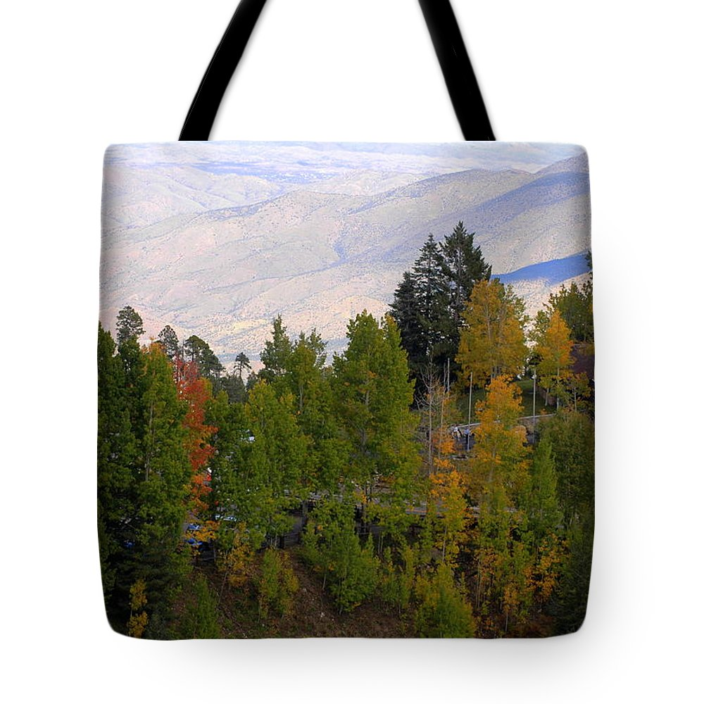 Lemmon Tote Bag featuring the photograph Catalina Mountains In The Fall by Teresa Stallings