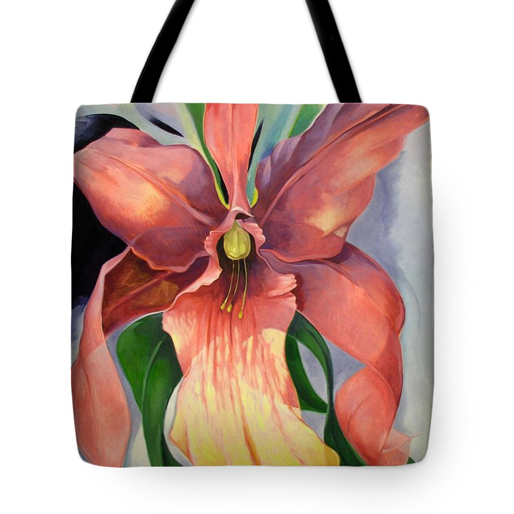 Catalya Tote Bag featuring the painting Catalya Orchid by Jerrold Carton