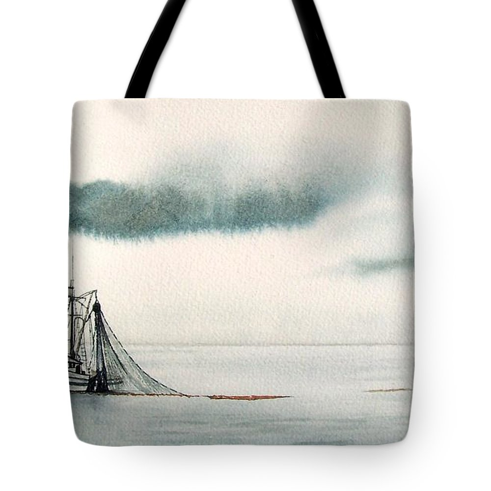 Fishing Boat Tote Bag featuring the painting Catch Of The Day by Gale Cochran-Smith