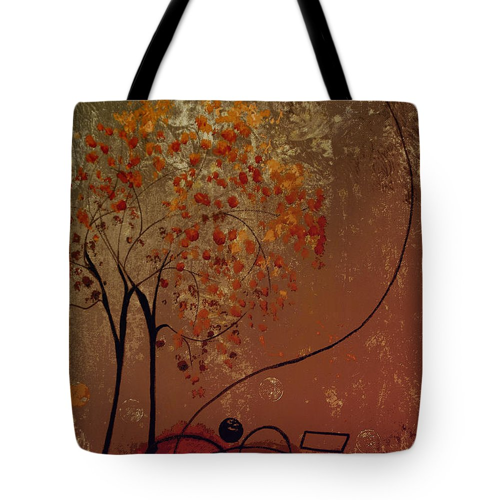 Abstract Tote Bag featuring the mixed media Catch The Moon by Ruth Palmer
