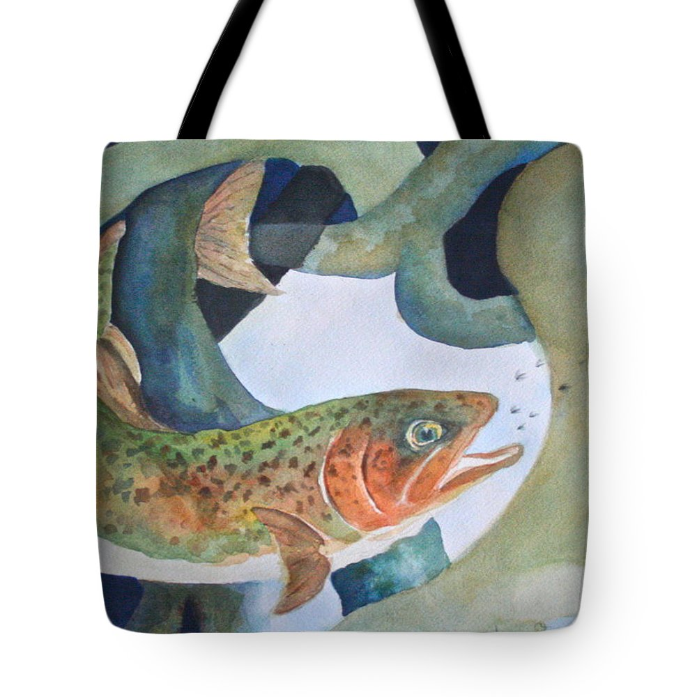Tote Bag featuring the painting Catching Flies by Donna Steward