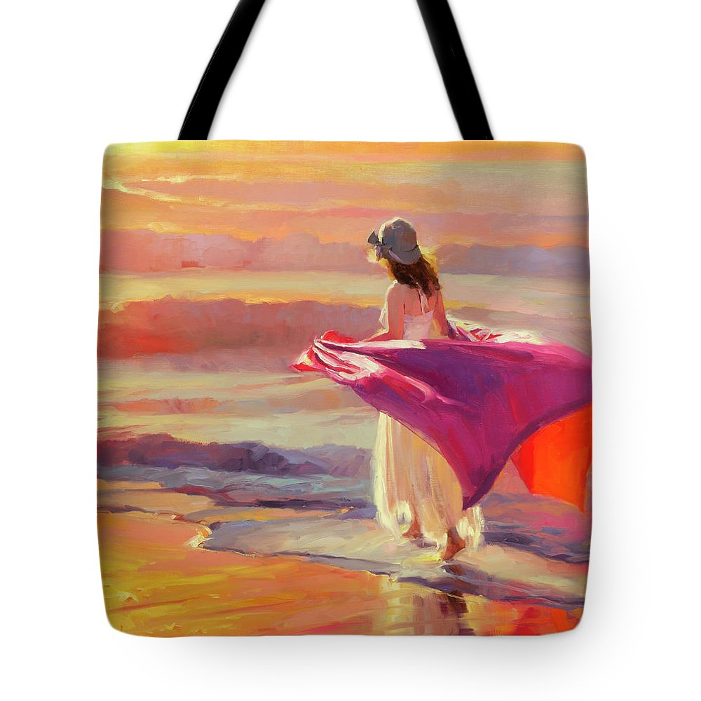 Coast Tote Bag featuring the painting Catching the Breeze by Steve Henderson