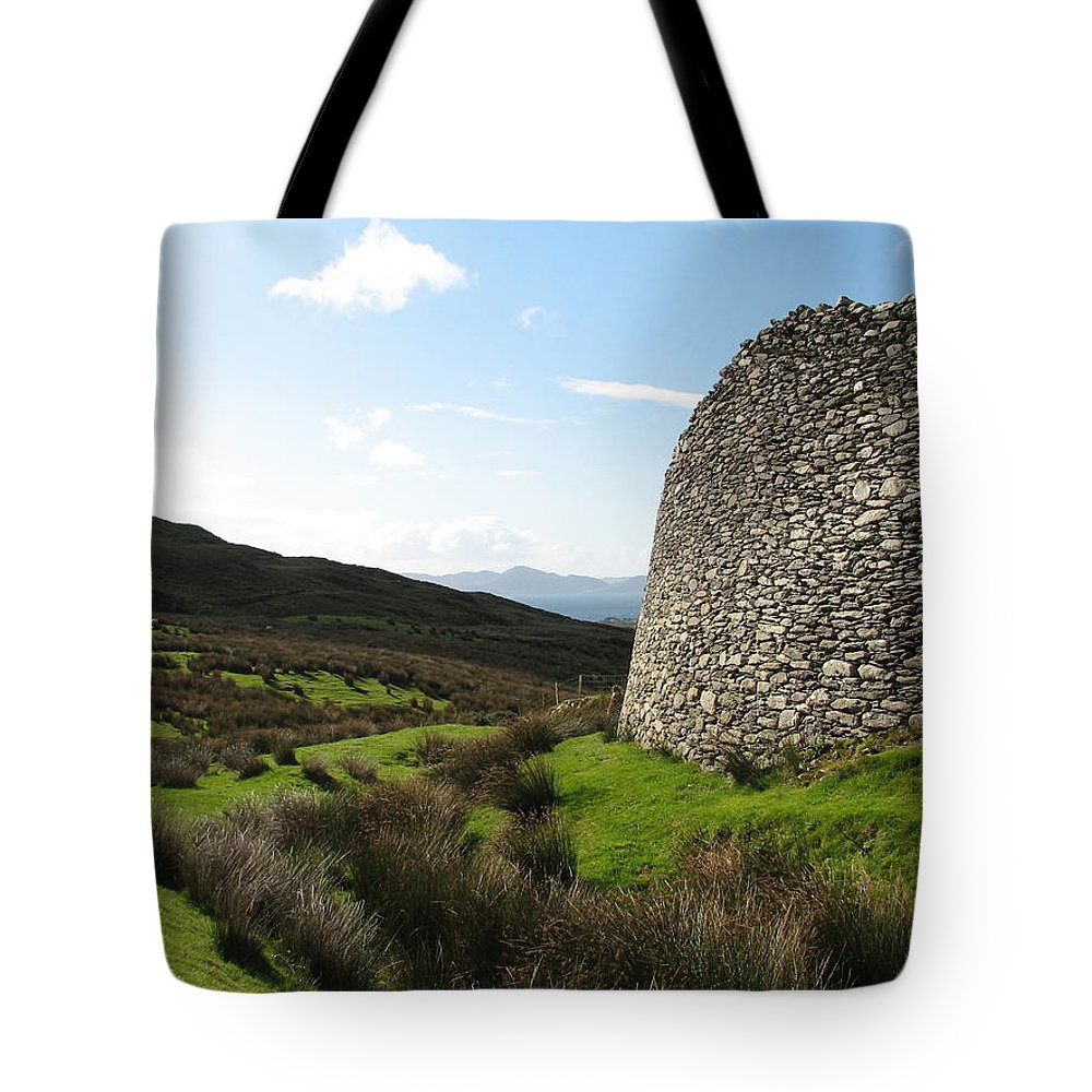 Fort Tote Bag featuring the photograph Cathair Na Steige by Kelly Mezzapelle