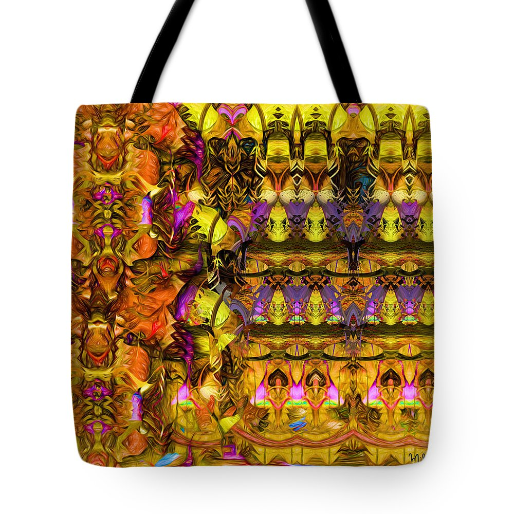 Colorful Tote Bag featuring the digital art Cathedral Of The Mind No 57 by Mike Butler