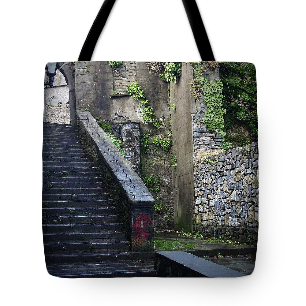 Stairs Tote Bag featuring the photograph Cathedral Stairs by Tim Nyberg