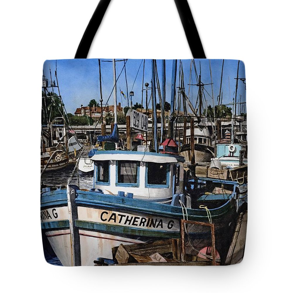 Transportation Tote Bag featuring the painting Catherina G by James Robertson
