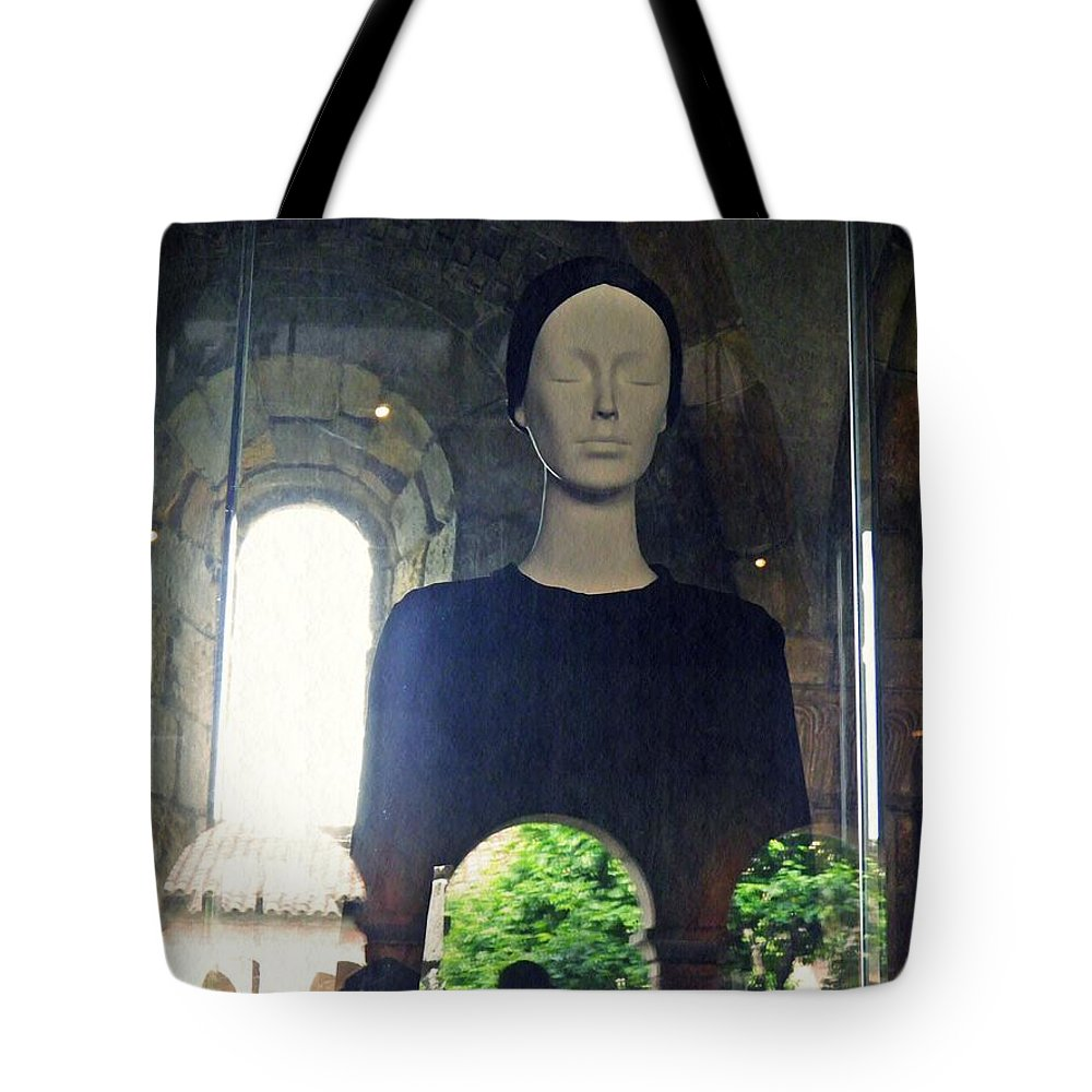 Mannequin Tote Bag featuring the photograph Catholic Imagination Fashion Show 1 by Sarah Loft