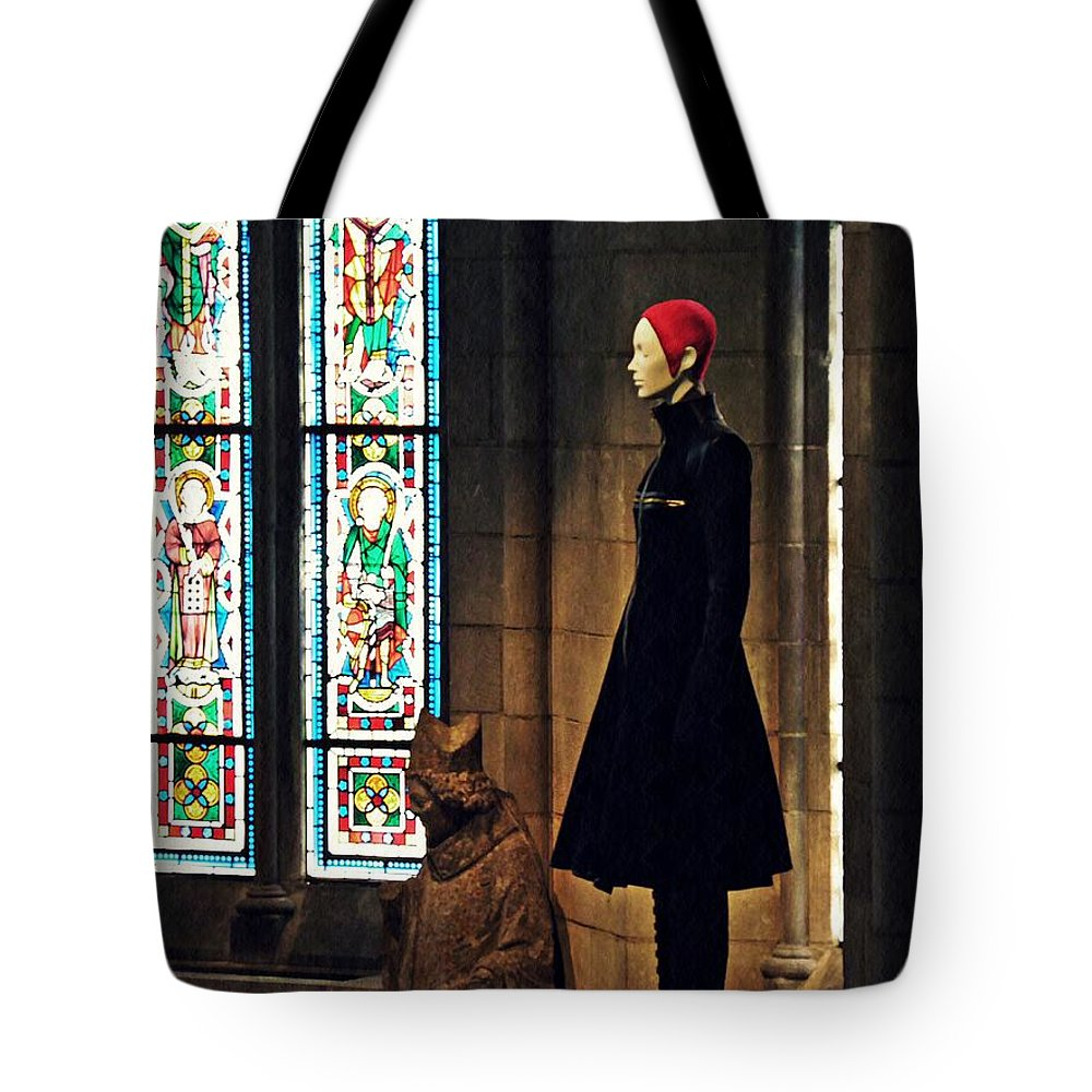 Mannequin Tote Bag featuring the photograph Catholic Imagination Fashion Show 2 by Sarah Loft
