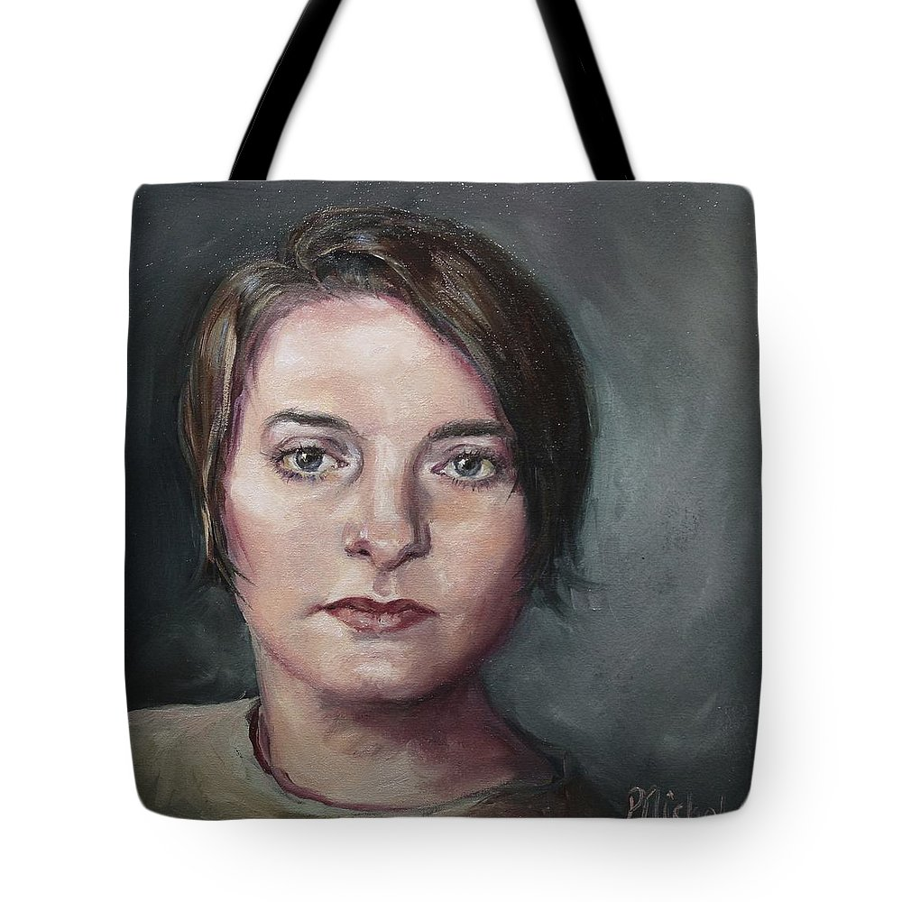 Eyes Tote Bag featuring the painting Cat's Eyes by Pamela Nichols