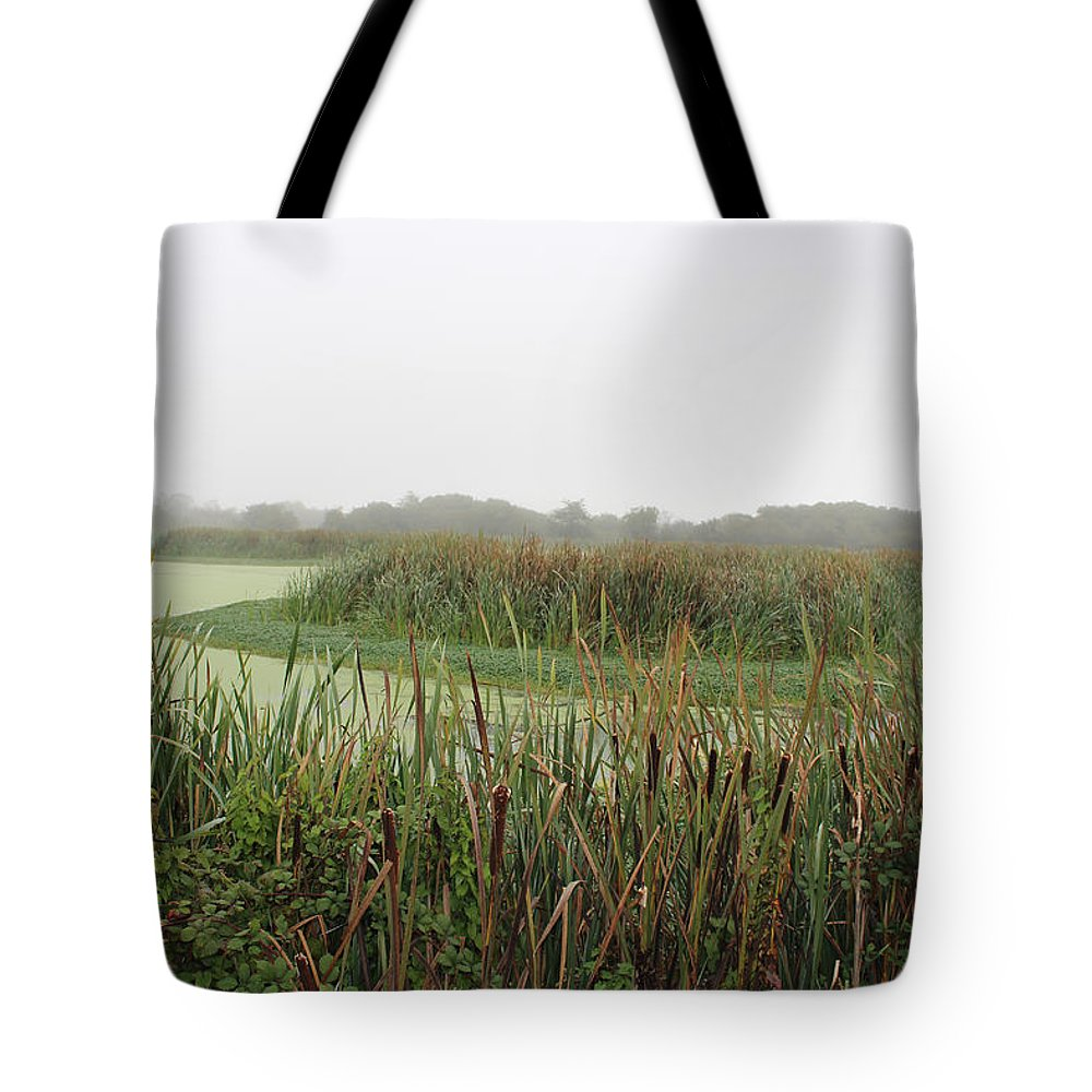Cattails Tote Bag featuring the photograph Cattails by Clyde Dellinger