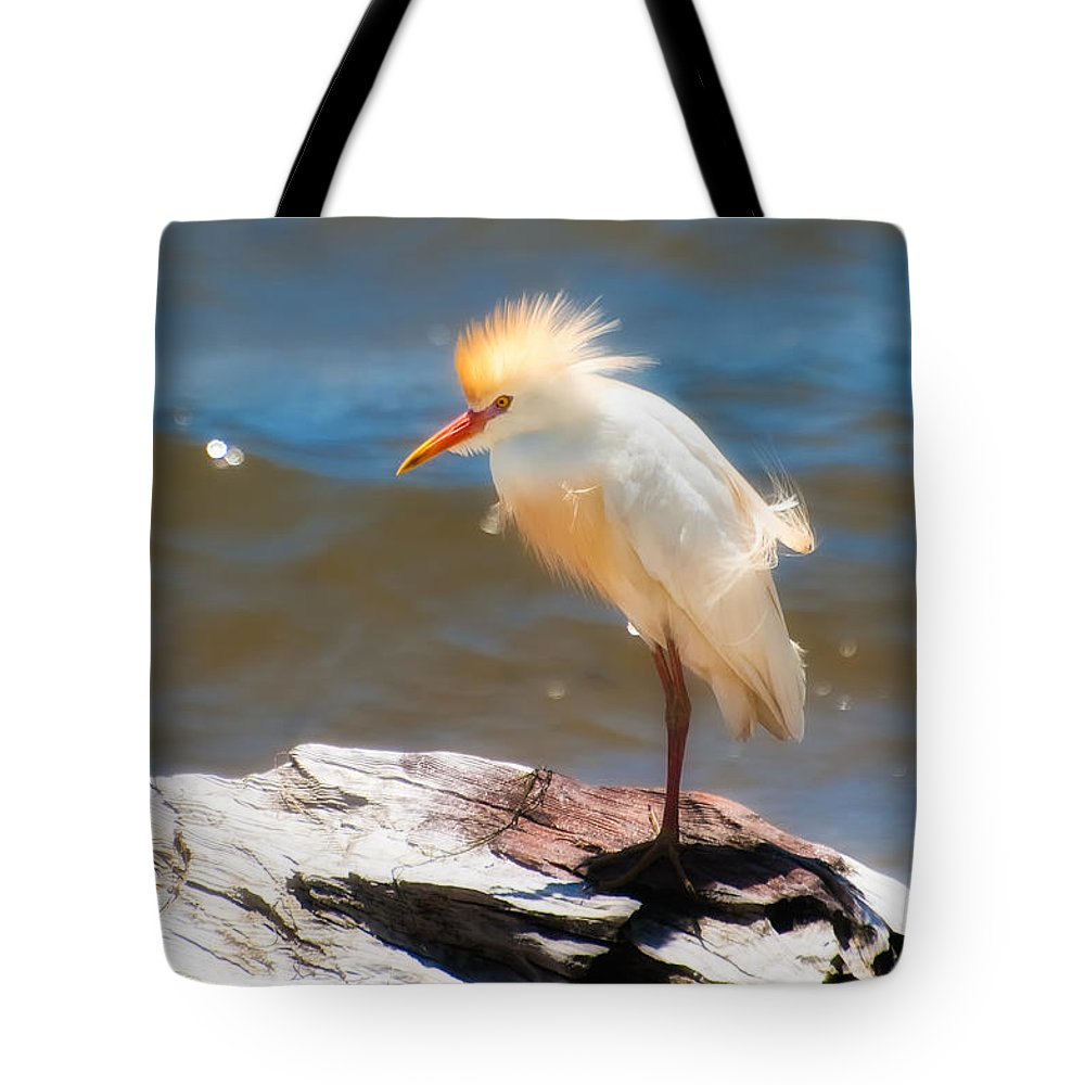 Animal Tote Bag featuring the photograph Cattle Egret In Breeding Plumage by Rich Leighton