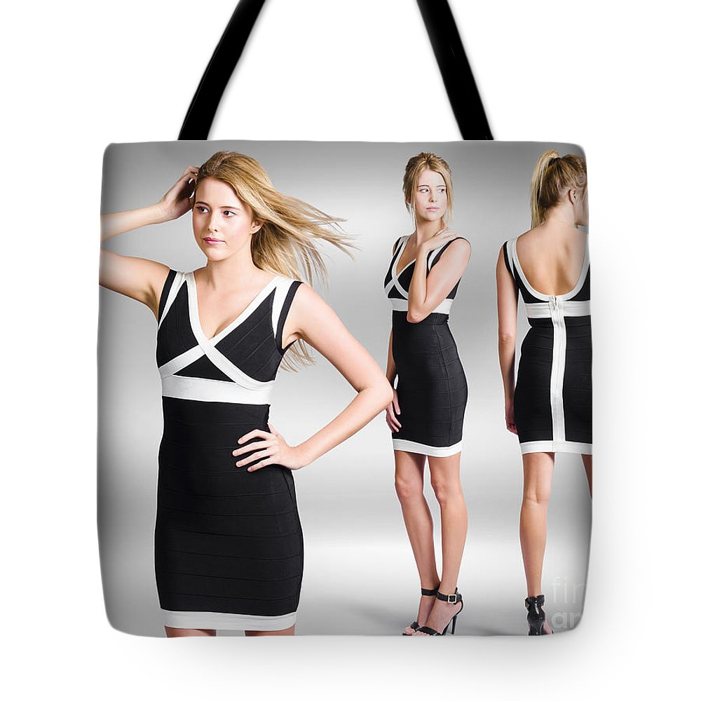 Fashion Tote Bag featuring the photograph Catwalk And Runway Model At Fashion Week by Jorgo Photography - Wall Art Gallery