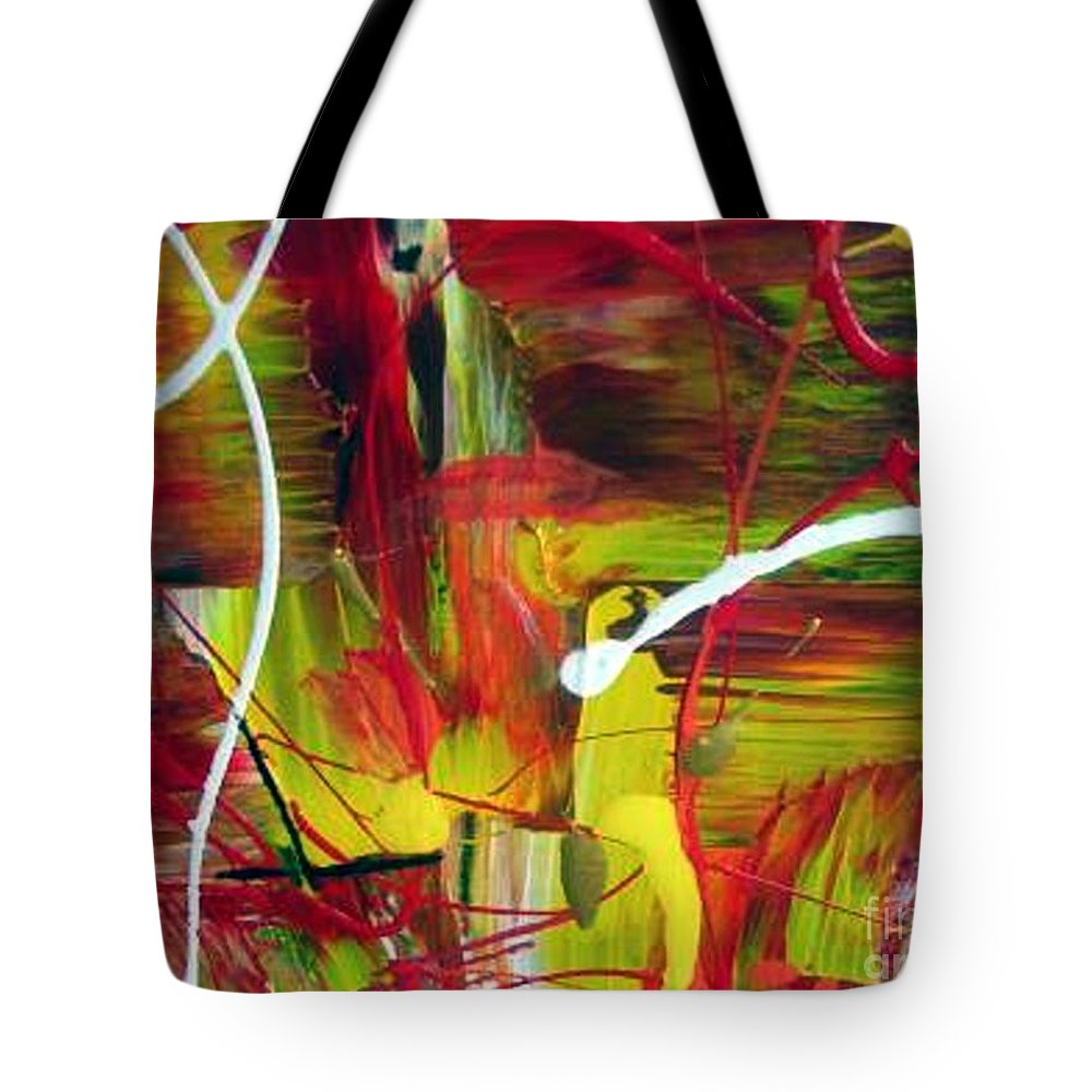 Caution Tote Bag featuring the painting Caution by Dawn Hough Sebaugh