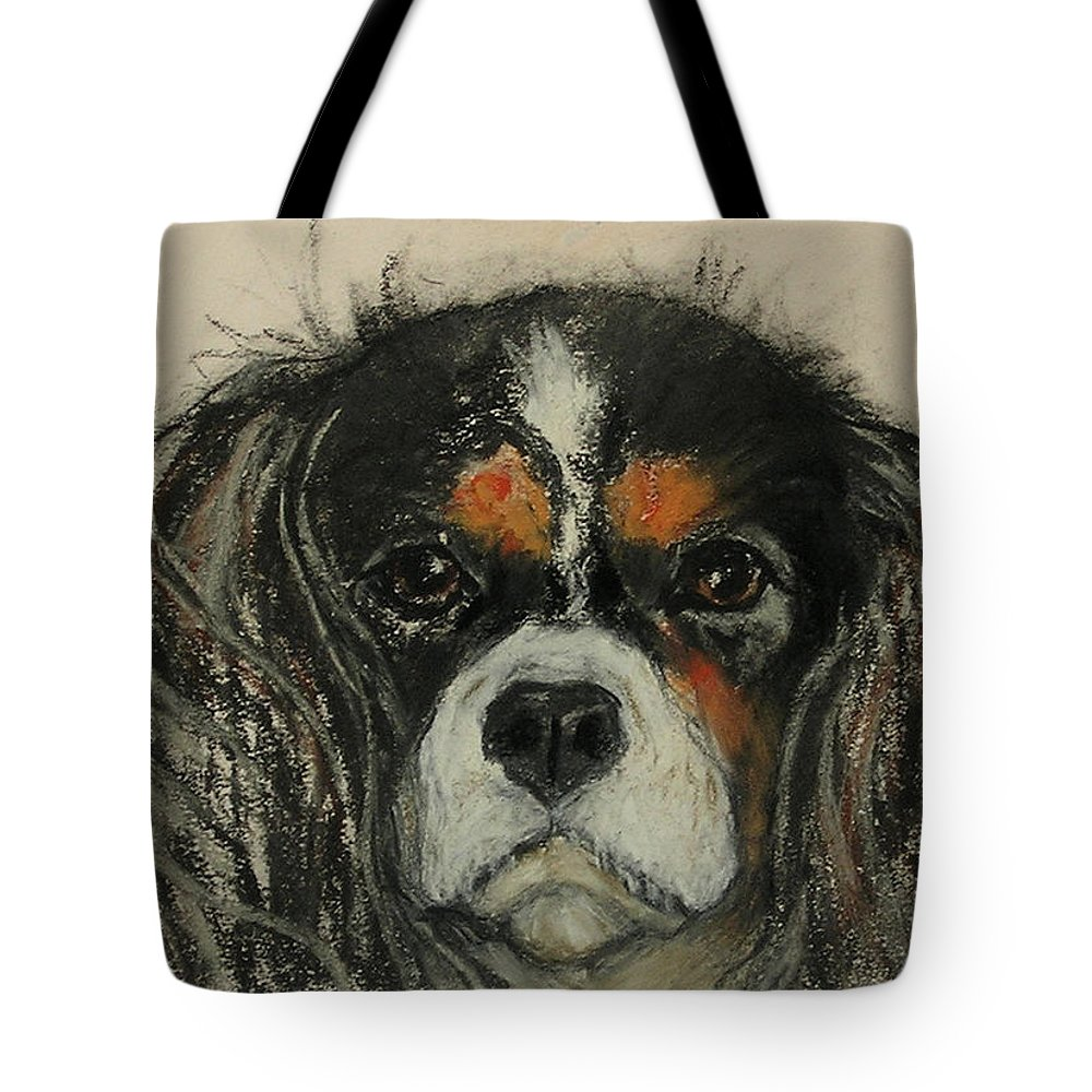 Cavalier Tote Bag featuring the drawing Cavalier by Cori Solomon