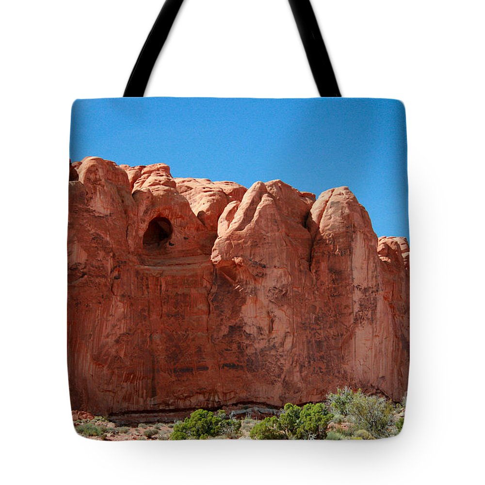 Cave Tote Bag featuring the painting Cave Formation Arches National Park by Corey Ford