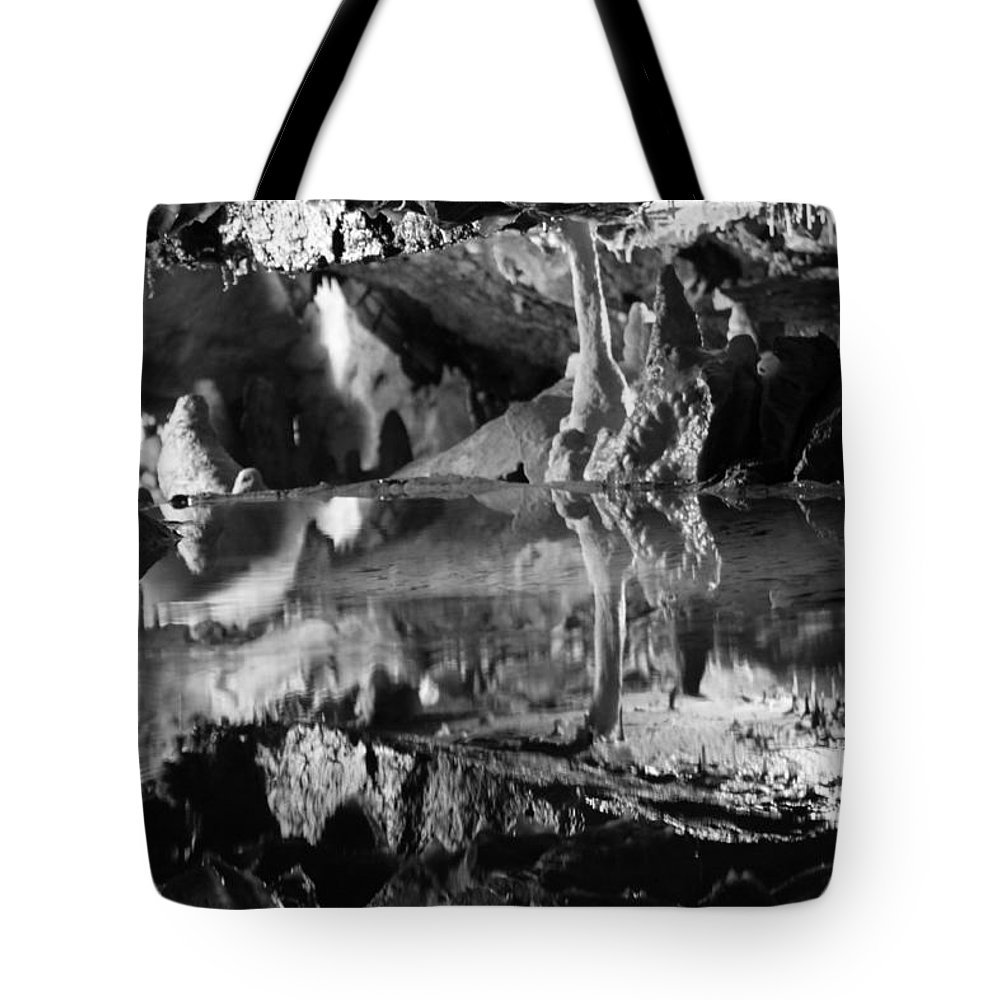 Cave Tote Bag featuring the photograph Cave Reflection 2 by Lauri Novak