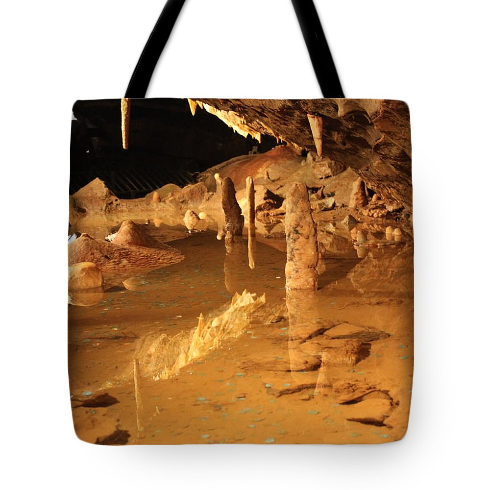 Cave Tote Bag featuring the photograph Cave Reflections by Lauri Novak