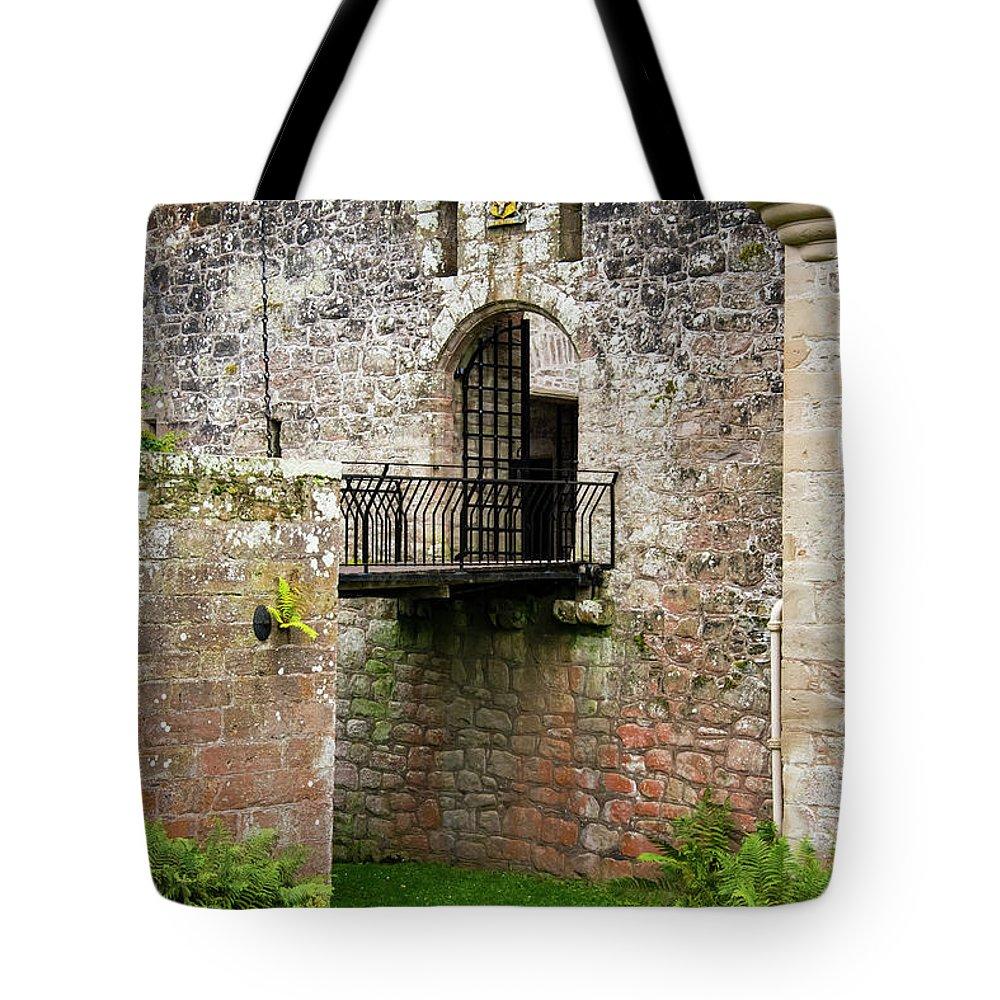 Cawdor Castle Tote Bag featuring the photograph Cawdor Castle Drawbridge by Bob Phillips