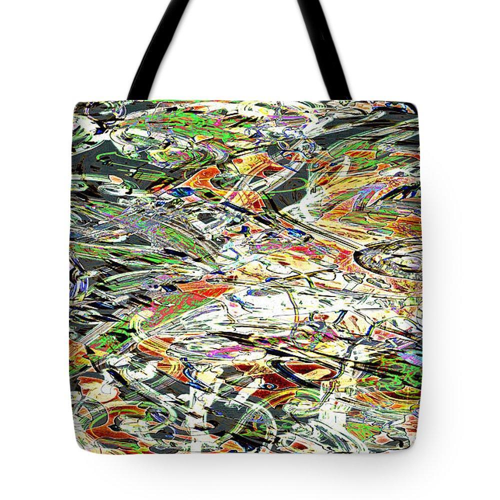 Graffiti Tote Bag featuring the digital art Cda1 by Laura Kaschmitter