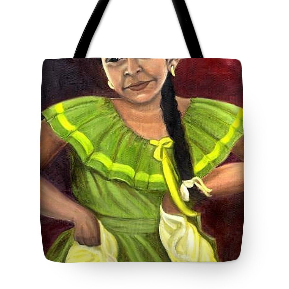Tote Bag featuring the painting Cecelia by Toni Berry