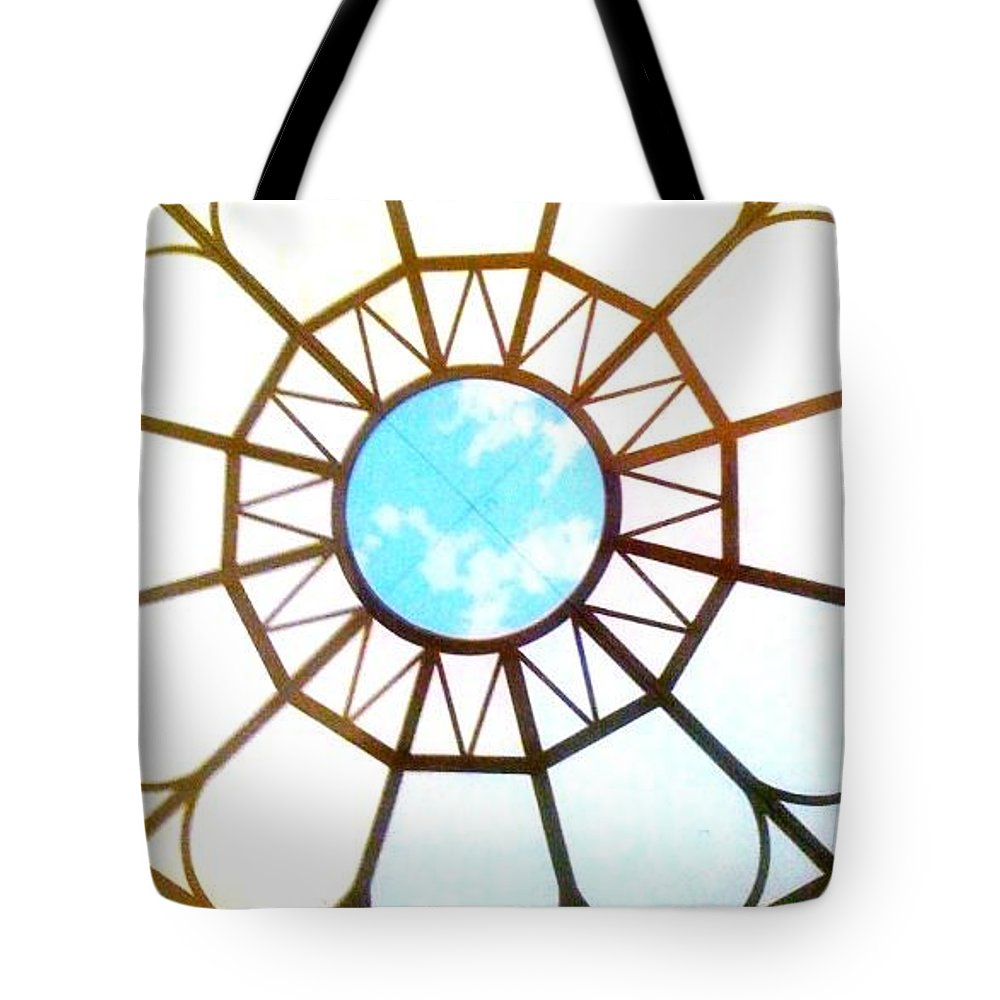Window Tote Bag featuring the photograph Ceiling by Donna Bentley