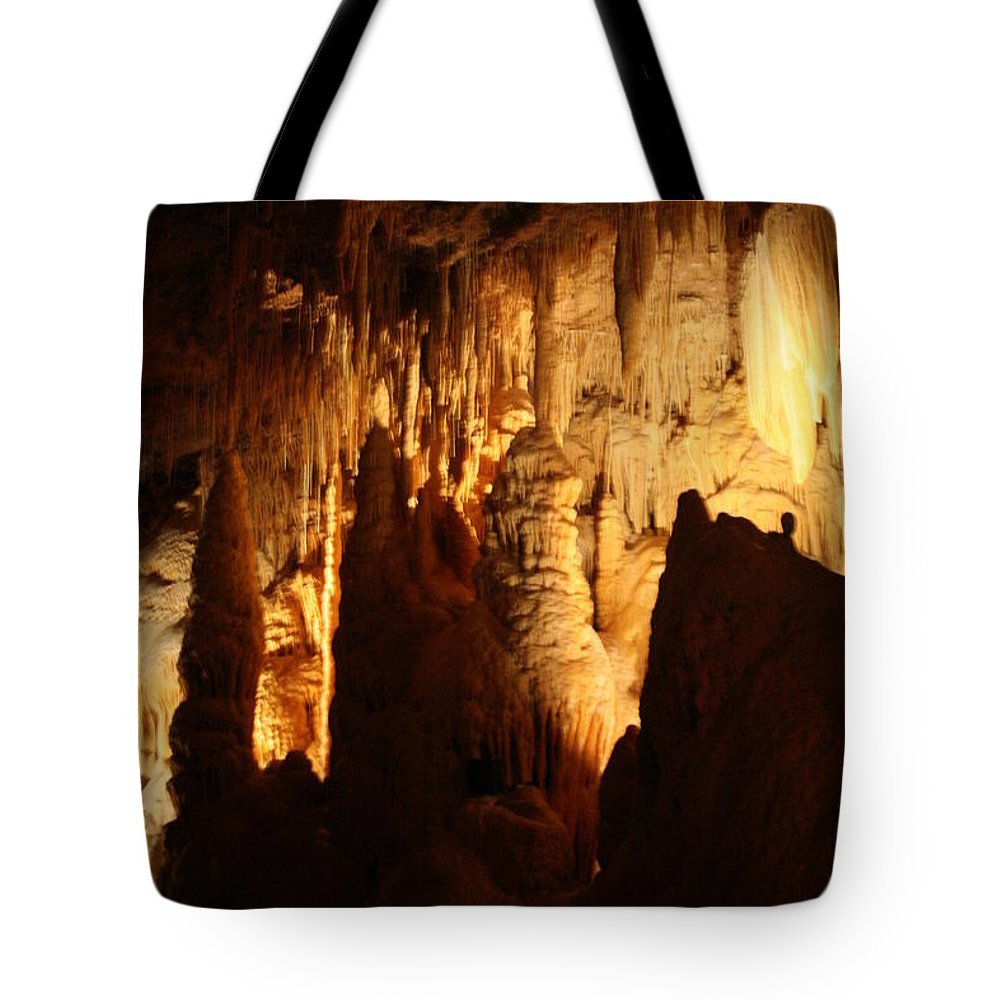 Natural Tote Bag featuring the photograph Ceiling Formations - Cave by Lynn Michelle